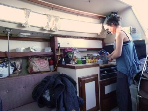 Jess in galley