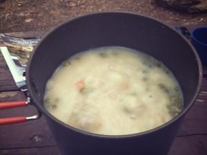 Tuna casserole rehydrating