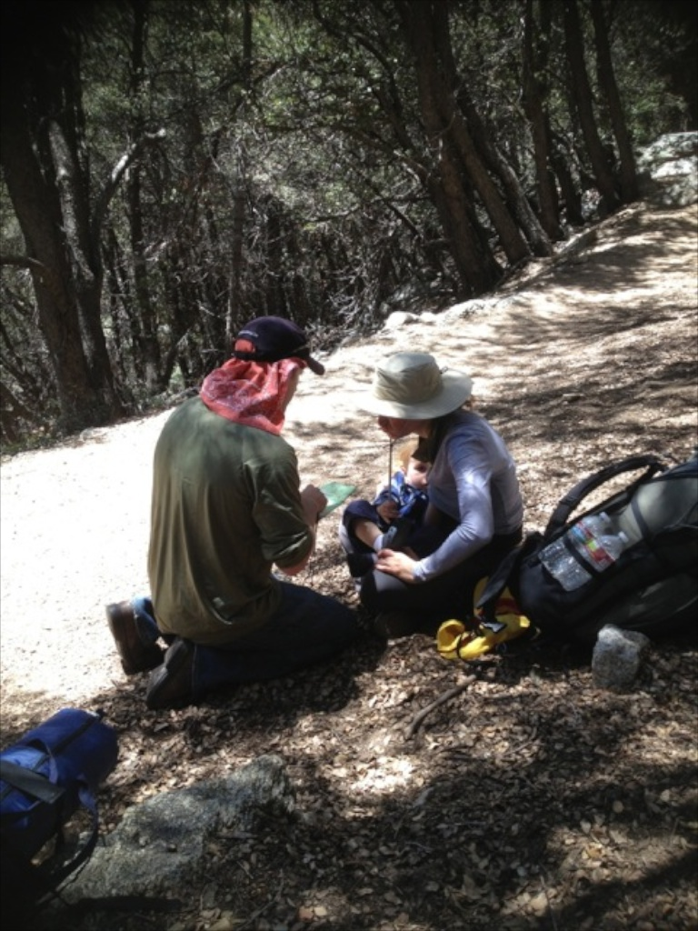 Discussing navigation while breastfeeding