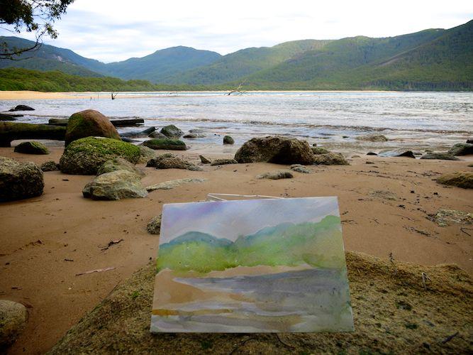 Watercolor of Sealers Cove