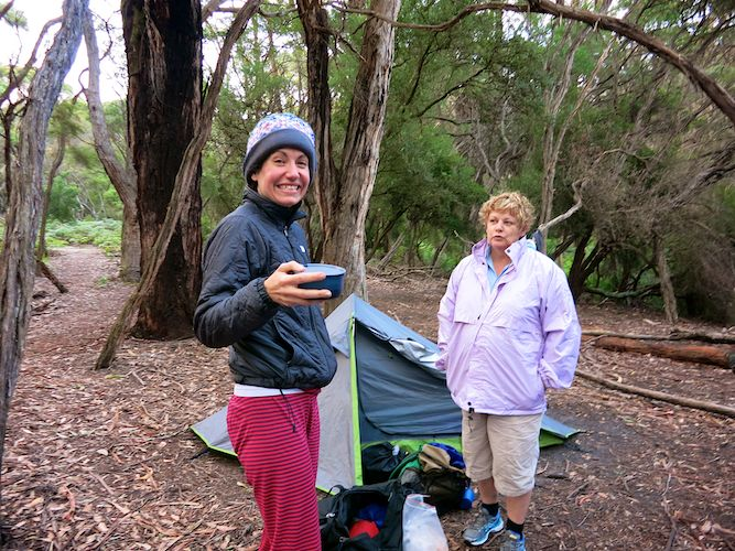 Refuge Cove morning coffee