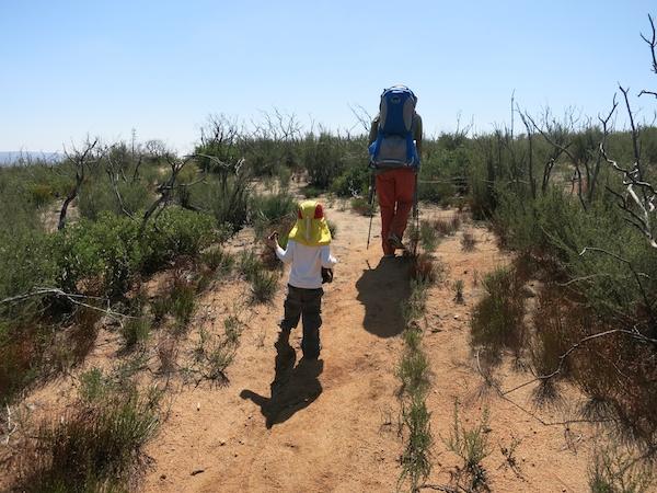 Gabriel hiking