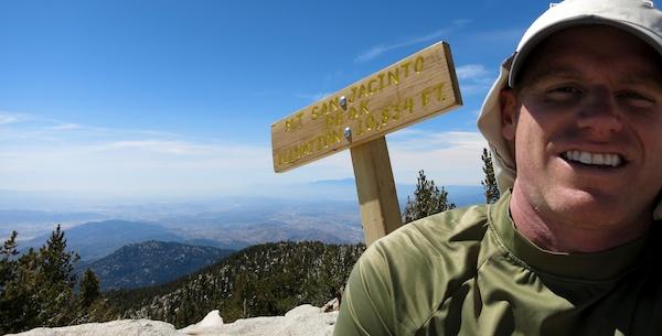 San Jacinto Peak - 10,834 ft elevation
