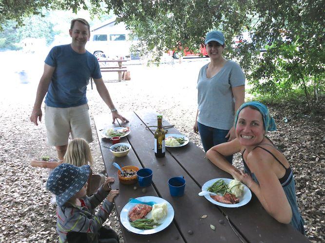 Amazing camp dinner