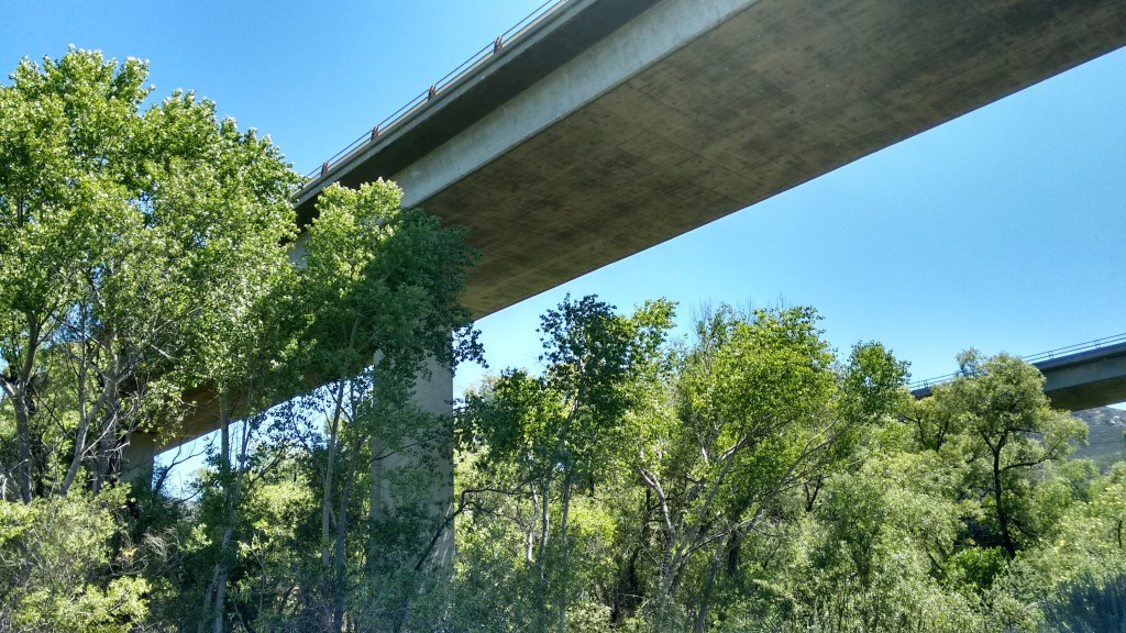 Walking under the 8 Interstate