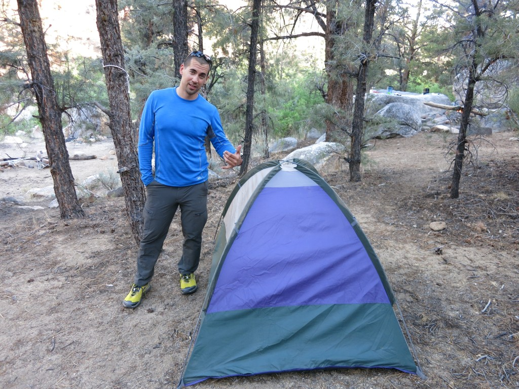 Abandoned tent Eric packed up and brought out