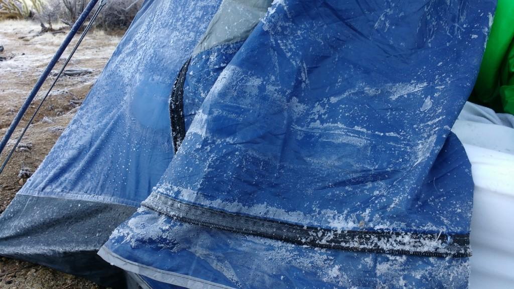 Tent ice