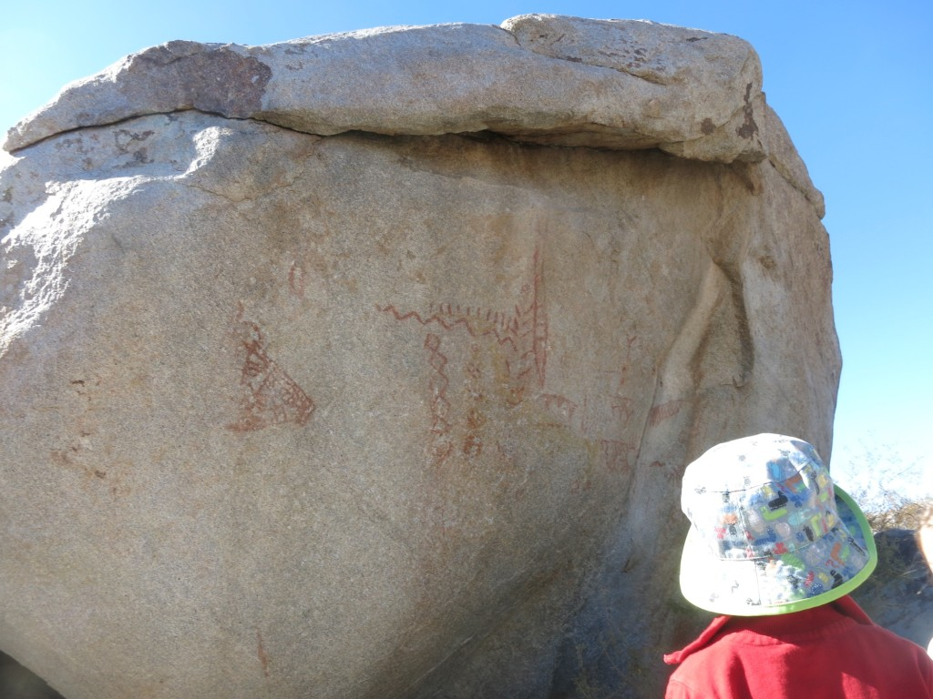 Ancient Native American paintings on a rock