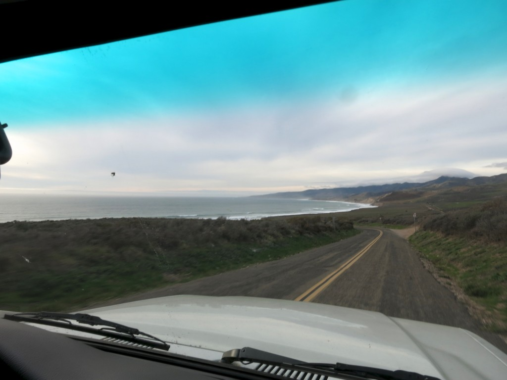 Approaching Jalama Beach Campground